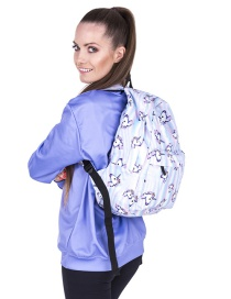 Fashion White Unicorn Pattern Decorated Simple Backpack