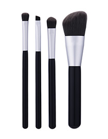 Fahsion Black Color-matching Decorated Brush (4pcs)