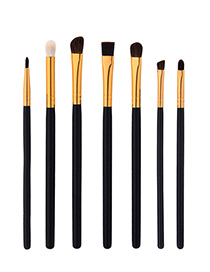 Fahsion Black+gold Color Color-matching Decorated Brush (7pcs)
