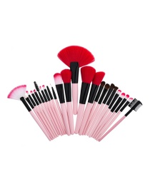 Fashion Pink Color-matching Decorated Brush (24pcs)
