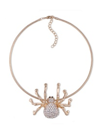 Fashion Gold Color Spider Shape Decorated Simple Necklace