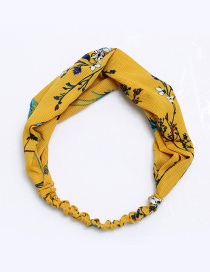 Fashion Yellow Flower Pattern Decorated Hair Band