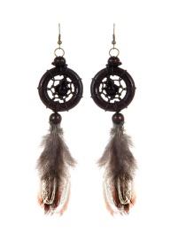 Bohemia Brown Aeolian Bells Decorated Earrings