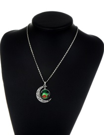 Fashion Green Moon& Poke Ball Decorated Necklace