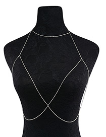 Fashion Silver Color Pure Color Decorated Simple Body Chain