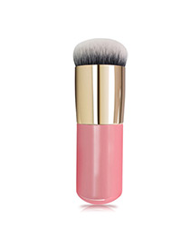 Trendy Pink+gold Color Color Matching Decorated Makeup Brush(1pc)