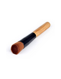 Trendy Brown Oblique Shape Decorated Simple Makeup Brush(1pc)