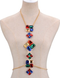 Fashion Multi-color Diamond Decorated Simple Body Chain