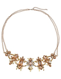 Fashion Champagne Flower Shape Decorated Simple Body Chain