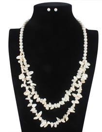 Elegant White Irregularity Shape Decorated Jewelry Sets
