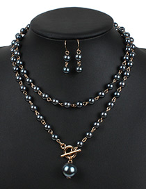 Fashion Gun Black Hollow Out Decorated Jewelry Sets