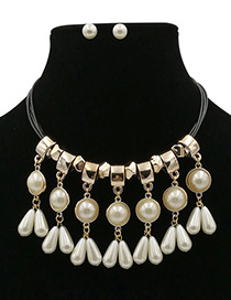 Elegant White Heart Shape Decorated Jewelry Sets