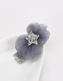 Cute Silver Color Star Shape Decorated Children Hairpin