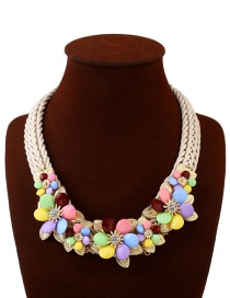 Bohemia Multi-color Hand-woven Decorated Necklace