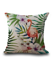Fashion Multi-color Flamingo Pattern Decorated Simple Pillowcase