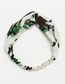 Fashion White Tree Pattern Decorated Simple Hair Hoop