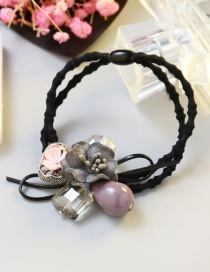 Fashion Pink Flower Shape Decorated Simple Hair Band