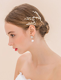 Fashion Silver Color Leaf Shape Decorated Simple Hairpin (1 Pcs)