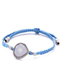 Fashion Blue Water Drop Decorated Simple Bracelet