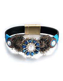 Fashion Multi-color Bead Decorated Simple Bracelet