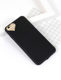 Fashion Black Heart Shape Decorated Simple Iphone7plus Case