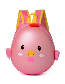 Lovely Pink Cartoon Egg Shape Decorated Waterproof Backpack