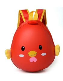 Lovely Red Cartoon Egg Shape Decorated Waterproof Backpack