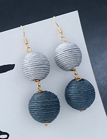 Fashion Gray Round Balls Decorated Pure Color Earrings