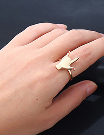 Fashion Gold Color Finger Shape Decorated Pure Color Ring