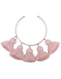Fashion Light Pink Pure Color Decorated Bracelet