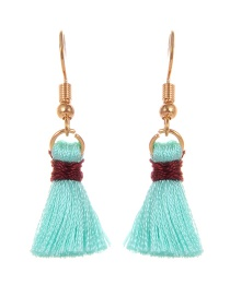 Fashion Purple Tassel Decorated Pure Color Earrings