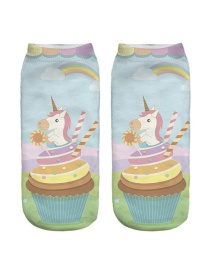 Lovely Multicolor Unicorn Pattern Decorated Socks
