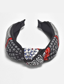 Elegant Black Color-matching Decorated Hair Band