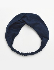 Fashion Navy Pure Color Decorated Hair Band