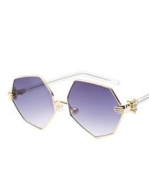 Fashion Gray Palm Shape Decorated Glasses