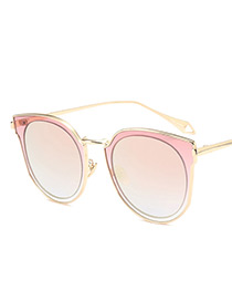 Fashion Pink Wing Shape Decorated Sunglasses