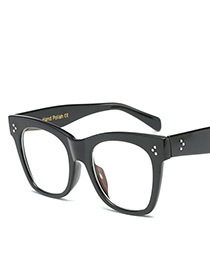 Fashion Black Dot Shape Decorated Square Sunglasses