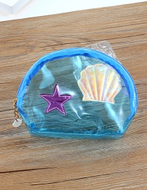 Fashion Blue Star&shell Pattern Decorated Storage Bag