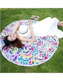 Fashion Multi-color Round Shape Decorated Beach Scarf
