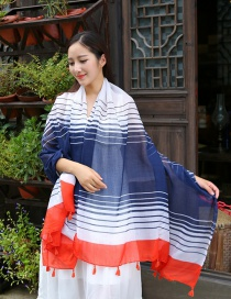 Fashion Red+white Stripe Pattern Decorated Scarf