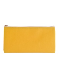 Fashion Yellow Square Shape Decorated Cosmetic Bag