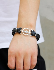 Fashion Black Eagle Shape Decorated Bracelet