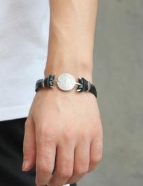 Fashion Black Cross Pattern Decorated Bracelet