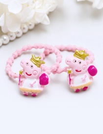 Lovely Plum Red+yellow Crown&pigs Decorated Hair Band(2pcs)