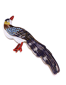 Personality Mutlti-color Bird Shape Decorated Brooch