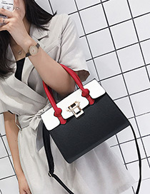 Elegant Black Color-matching Decorated Bag