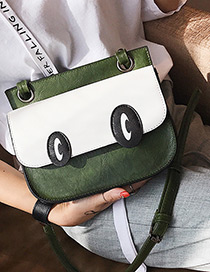 Lovely Green Eyes Shape Decorated Bag