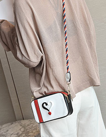 Elegant White Heart Shape Decorated Bag