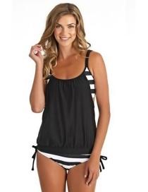 Fashion Black Color-matching Decorated Swimwear