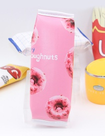 Cute Pink Donuts Pattern Decorated Pencil Case